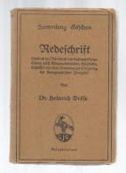 Livre , REDESCHRIFT , Dr. HEINRICH DROSE , 1919 , 7 Scans , 137 Pages ,  Frais Fr : 3.00 , Cee : 3.80€ , Monde : 5.50€ - Livres, BD, Revues