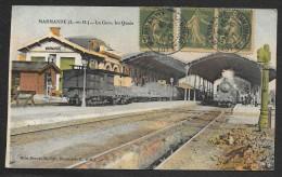 MARMANDE Rare Colorisée La Gare Les Quais (Brure) Lot & Garonne (47) - Marmande