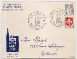 STRASBOURG  Bas Rhin, Foire Européennee De Matériel Didactique Sur Devant D'enveloppe. - Postmark Collection (Covers)