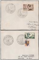 STRASBOURG  Bas Rhin, 2 Devants D'enveloppe. 1952 Et 1954. LECLERC Et DE LATTRE DE TASSIGNY. - Postmark Collection (Covers)