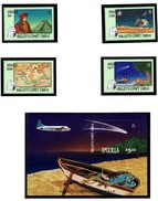 Anguilla Halley's Comet Miniature Sheet And Stamps 1986 Mnh