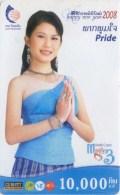 Mobilecard Laos - Happy New Year - Lady,Frau,woman - Laos