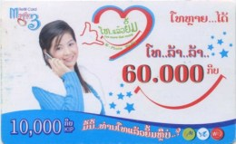 Mobilecard Laos - Werbung - Lady,Frau,woman - Laos