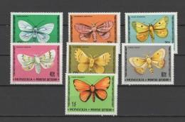 Mongolia 1977 Butterflies Set Of 7 MNH - Farfalle