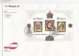 Österreich 2004 Nr. Block 23 - 150 Jahrestag Hochzeit Elisabeth Und Franz Joseph - FDC Ersttagsbrief - FDC