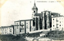 N°51336 -cpa Fuenterrabia -la Iglesia- - Espagne
