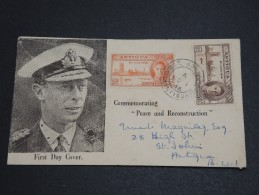 GRANDE BRETAGNE / ANTIGUA - Enveloppe FDC En 1946 - A Voir - L  3890 - 1858-1960 Kronenkolonie