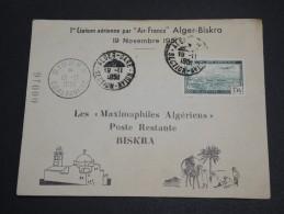 FRANCE / ALGÉRIE - Enveloppe 1 ère Liaison Alger / Briska En 1951- A Voir - L  3895 - Algeria (1924-1962)