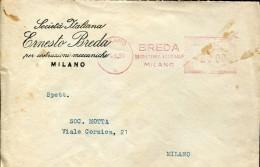 13823 Italia, Red Meter/freistempel/ema/affrancatrice Rossa, 1950 Roma Breda, Ernrsto Breda Costruzioni Meccaniche - Affrancature Meccaniche Rosse (EMA)