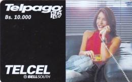 Venezuela, VE-TELCEL-060-01, 10,000 Bs, Telpago Plus - Viviana Gibelli, 2 Scans.    TT 06/02 2.500.000 - Venezuela