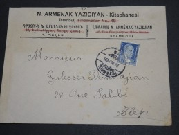 TURQUIE - Enveloppe Commerciale De Istanbul Pour Alep En 1938 - A Voir - L  3899 - Briefe U. Dokumente