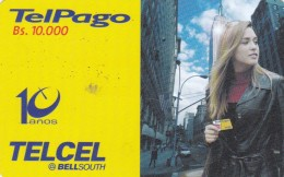 Venezuela, VE-TELCEL-049, 10,000 Bs, Erika De La Vega, 2 Scans.      TT 02/02 - Venezuela
