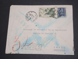 FRANCE / ALGÉRIE - Enveloppe En Exprès De Alger Pour Paris En 1953 - A Voir - L  3903 - Algeria (1924-1962)