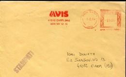 13830 Italia,red Meter/freistempel/ema/affrancatrice Rossa,1994 Carpi  Avis,  Blood Donors,association Donneur Sang - Affrancature Meccaniche Rosse (EMA)