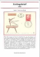 österreich Austria Ersttagsbrief Fdc Sport Bewegung Pferd Turnen - 1945-60 Briefe U. Dokumente