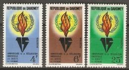 DAHOMEY   -   1963.  Y&T N° 202 à 204 *.  Droits De L' Homme.   Série Complète - Bénin – Dahomey (1960-...)