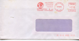EMA Geographie,globe Terrestre,continent Afrique,transport Sotracom,entrepot,transit,lettre 73 Odane,Savoie 17.12.1984 - Geographie
