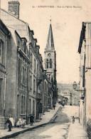 8245. CPA 54 LONGWY-BAS. RUE DE L'ABBE HENRION - Longwy
