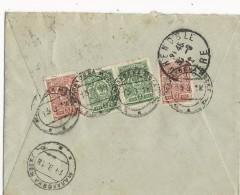 RUSSIE - 1912 - ENVELOPPE  De МАЛАХОВКА (Malakhovka) REGION De MOS - 1857-1916 Empire