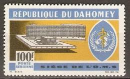 DAHOMEY   -  Aéro   -   1966.   Y&T N° 36 *.   Siège De L' OMS - Bénin – Dahomey (1960-...)