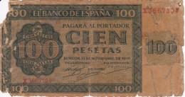 BILLETE DE ESPAÑA DE 100 PTAS 20/05/1936 SERIE X EN CALIDAD RC (BANK NOTE) - [ 3] 1936-1975 : Régimen De Franco
