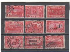 ETATS-UNIS 1912 COLIS POSTAUX N° 1 à 9 Oblitérés - United States