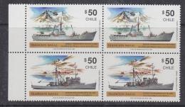 Chile 1990 Traditional Ships / Antarctica 2x2v Se Tenant ** Mnh (32611C) - Chili