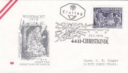 Österreich 1970 - Nr. 1349 - Weihnachten - FDC Ersttagsbrief - FDC