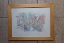 Brugge Sint-Bonifaciusbrug Door Gesigneerd - Lithographies