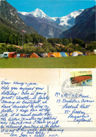 Camping, Wilderswil, BE Bern, Switzerland Postcard Posted 1992 Stamp - BE Berne