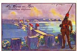 CPA  (militaria )      Tirailleurs Algeriens (la Garde Du Rhin) Pont De Bonn      (bte10) - Guerre 1914-18