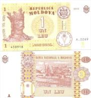 2015. Moldova, New 1Leu/2015, UNC - Moldavie