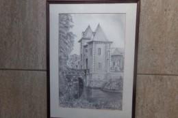 Kasteel Door L. Van Den Broeck - Lithographies