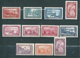 Monaco  Timbres De 1933/37  N°123 A 132  Neuf * Petite  Charnière (cote 259€) - Mónaco
