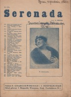 "POLAND - 1926. Gaetano Braga Italian Composer. ""Serenada"" - ""Serenede"". Score. On Foto Pole K. Hordowska - Spartiti"