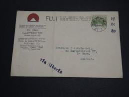 JAPON- Enveloppe Pour Les Pays Bas Via Sibérie - A Voir - L  3938 - Briefe U. Dokumente