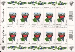 2016 Austria Mi. 3279**MNH Weinregionen Österreichs : Mittelburgenland - Blocks & Kleinbögen