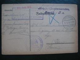 Courrier Prisonnier De Guerre 14-18 En Franchise Camp De Gottingen Allemagne , Lager Göttingen Deutschland - Marcophilie (Lettres)