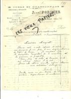 38 - Isère - CHATONNAY - Facture PORCHER - Forge Et Charronnage – 1919 - REF 42C - 1900 – 1949