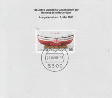 50243- GERMAN LIFE BOAT SERVICE, RESCUE, MINISHEET, 1990, WEST GERMANY - Berufe