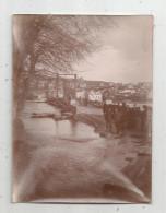 Photographie , 11.5 X 8.5 , CRUE DE LA SEINE , 1910 , Pont Péage - Orte
