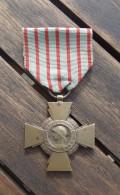 Croix Avec Ruban Sans épingle - République Française - Croix Du Combattant - Armée De Terre