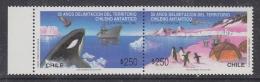 Chile 1990 Antarctic Treaty 2v Se Tenant ** Mnh (32611N) - Chili