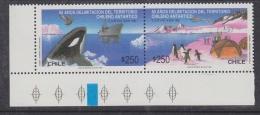 Chile 1990 Antarctic Treaty 2v Se Tenant  (corner) ** Mnh (32611P) - Chili