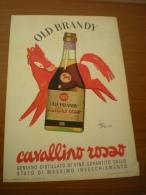 Advertising Pubblicità OLD BRANDY CAVALLINO ROSSO  1959 - Alcolici