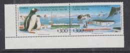 Chile 1994 30Y Antarctic Institute 2v Se-tenant  (corner) ** Mnh (32611R) - Chili