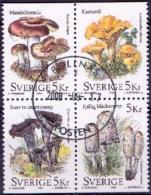 ZWEDEN 1996 Blok Paddestoelen Uit Boekje GB-USED - Suède