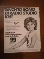 RADIO STUDIO 105  NIKKA COSTA  Advertising Pubblicità - Altri Oggetti