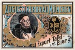 BRASSERIE / BREWERY : AUGUSTINERBRÄU MÜNCHEN - EXPORT TAFEL-BIER - BEER LABEL / ÉTIQUETTE De BIÈRE (v-183) - Bière