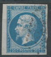 Lot N°32501  N°14B Bord De Feuille, Oblit Losange Des Ambulants à Déchiffrer - 1853-1860 Napoléon III